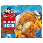 Birds Eye 4 Large Cod Fillets Harry Ramsden's Batter