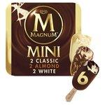 Magnum Mini Classic Almond & White Ice Cream  Sticks