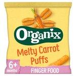 Organix 7 Mths+ Finger Foods Organic Crunchy Carrot Sticks