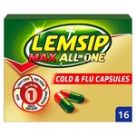Lemsip Max All in One Cold & Flu Capsules 16s