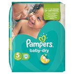 Pampers Baby Dry Size 5 (Junior) Nappies Essential Pack