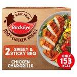 Birds Eye 2 Sticky & Sweet BBQ Chicken Chargrills