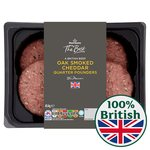 Morrisons The Best Beef Quarter Pounders with Oak Smoked Cheddar