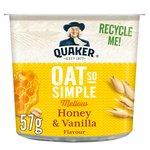 Quaker Oat So Simple Pot Honey & Vanilla