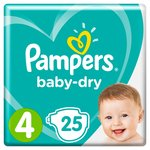 Pampers Baby Dry Size 4 Nappies Carry Packs 25 per pack