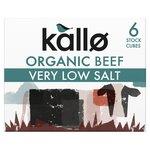 Kallo Very Low Salt Organic Beef Stock Cubes 6's