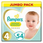 Pampers Premium Protection New Baby Nappies Size 4 Jumbo Pack 54 per pack