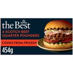 Morrisons The Best Scotch Beef Quarter Pounder 4 Pack