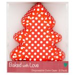 Bake With Love Christmas Tree Disposable Cake Case