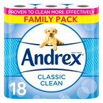 Andrex Classic Clean Toilet Tissue 18 Rolls