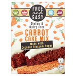 Free & Easy Gluten And Dairy Free Carrot Cake Mix Coconut Blossom Sugar