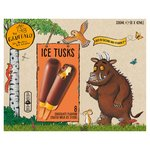 The Gruffalo Ice Tusks Chocolate Milk Ice Sticks 8 Pack