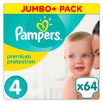 Pampers Premium Protection 4 Maxi Jumbo Pack 64 per pack