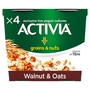 Activia Grains & Nuts Walnut & Oats 4 Pots